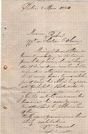 VP12.441 - Lettre De Mr JANVERT à POITIERS - Manuscripts