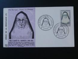 FDC Ed. PAC Héros De La Résistance Mère Elisabeth Lyon 1961 - 2. Weltkrieg