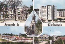 91. RIS ORANGIS  .CARTE MULTIVUES. SOUVENIR DE RIS ORANGIS. ANNEE 1962 - Ris Orangis