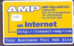 NEDERLAND CHIP TELEFOONKAART CRE 297 * AMP *  Telecarte A PUCE PAYS-BAS * ONGEBRUIKT MINT - Netherlands