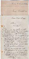 VP12.444 - 3 Lettres De Mr Louis ? à SEVREAU - Manuscripts