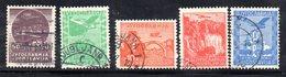 YUG44D - YUGOSLAVIA 1934 , Unificato N. 1/5  Usata - Posta Aerea