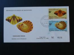 FDC Coquillages Sheel Fossiles Mauritanie 1972 - Fossielen