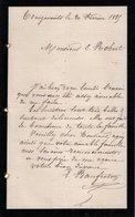 VP12.445 - Lettre De Mr BAUFRETON à TREIZE - VENTS - Manuscripts