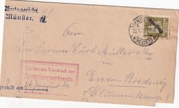 ALLEMAGNE 1926 LETTRE DE MUNSTER - Service