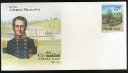 Norfolk Island Penal Commandant Captain Alexander Maconochie Postal Stationery Envelope Mint # 16050 - Norfolk Island