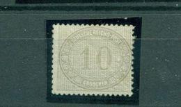 Norddeutscher Postbezirk, Ziffer Im Oval. Mi.-Nr. 12 Falz * - Norddeutscher Postbezirk