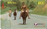 TARJETA DE FIJI 29FJC  DE GENTE A CABALLO (HORSE) - Fiji