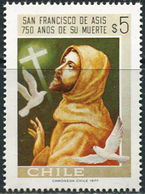 Chile 1977. Michel #876 MNH/Luxe. 750th Anniversary Of The Death Of St. Francis Of Assisi. (B33) - Chile
