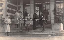 CARTE PHOTO ALLEMANDE SPA  1918   COMMISSION D'ARMISTICE    GENERAL FRANCAIS MIDAUT - Spa