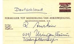 Karte Von Apeldoorn Nach Deutschland - Postwaardestukken