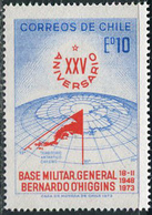 Chile 1973. Michel #788 MNH/Luxe. 25 Years Military Base General Bernardo O'Higgins. (B33) - Preserve The Polar Regions And Glaciers
