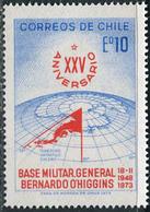 Chile 1973. Michel #788 MNH/Luxe. 25 Years Military Base General Bernardo O'Higgins. (B33) - Preservare Le Regioni Polari E Ghiacciai