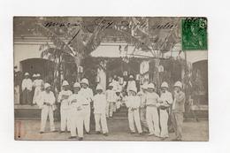 !!! INDOCHINE : TONKIN, CARTE PHOTO DE MONCAY (FRONTIERE CHINOISE) FETES DU 14 JUILLET 1908 - RR - Viêt-Nam