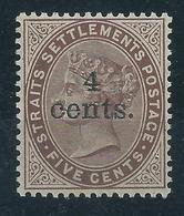 Malaiische Staaten Straits Settlements 76 * - Timbres