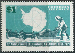 Chile 1982. Michel #999 MNH/Luxe. 10 Years Antarctic Agreement. (B33) - Antarctic Treaty