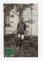 !!! INDOCHINE : TONKIN, MONCAY 1908, CARTE PHOTO D'UN COOLIE - Viêt-Nam