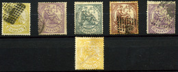 3144- España Nº 143/4, 146/9 - 1872-73 Reino: Amadeo I