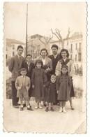 Photographie 4 Adultes Et 5 Enfants Valencia 1955 - Anonieme Personen
