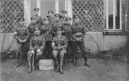 CARTE PHOTO ALLEMANDE  SPA    1918  COMMISSION D'ARMISTICE  SECTION DE TRANSMISSION   MISSION  BRITANNIQUE - Spa
