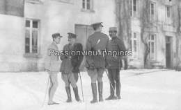 CARTE PHOTO ALLEMANDE  SPA    1918  COMMISSION D'ARMISTICE  ? OFFICIERS  ALLIES - Spa
