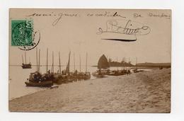 !!! INDOCHINE : TONKIN, CARTE PHOTO DE MONCAY DE 1908, JONQUES - Vietnam