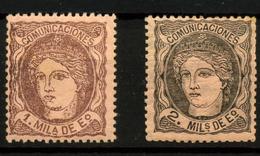 3138- España Nº 102c, 103 - 1868-70 Gobierno Provisional