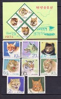 North Korea 1974  Pyongyang Zoo,fauna – 8v.+S/S -used/oblitere (O) Is Missing Stamp 10 - Ohne Zuordnung