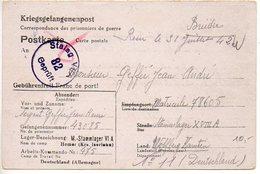 Prisonniers De Guerre : Carte Du Stalag VI A Pour Un Prisonnier Du Stalag XVIII A (correspondance Inter-camps, Peu Coura - 2. Weltkrieg 1939-1945