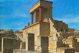 Grèce         H345        Knossos.L'entrée Nord Du Palais Et La Tour.... - Griechenland