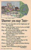 Irlande        25       Wherever You May Fare ( Brian O'Higgins ) - Ireland