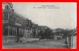 CPA  (22)  SAINT-CAST.  Boulevard De La Mer, Brasserie Et Salon De Thé...D941 - Saint-Cast-le-Guildo