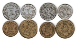 MAROC   1 Fr + 2 Fr + 10fr + 20 Franc 1371 - Morocco
