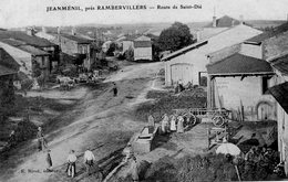 CPA - JEANMENIL (88) - Aspect De La Route De St-Dié En Vue Aérienne En 1906 - Otros Municipios