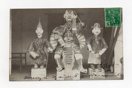 !!! INDOCHINE : TONKIN, CARTE PHOTO DE MONCAY DE 1908, MARIONNETTES - Vietnam