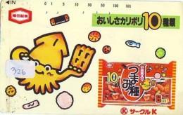 Télécarte Japon / Faune Marine - CALMAR Squid KALMAR Inktvis (326) - Fische