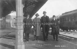 CARTE PHOTO ALLEMANDE  SPA   1919  LA GARE  HOOVER Amiral HOPE - Spa