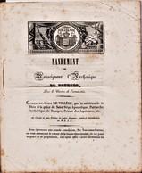 1841 Mandement De Monseigneur L'Archeveque De Bourges.  Ref 0538 - Historical Documents