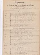Rare Manuscrit 5 P. ! Instruction Des Troupes, Progression Des Théories à Faire Du 15 Novembre Au 15 Mars, Années 1920 - Documents