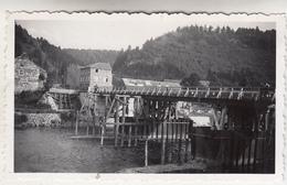 Hamoir - Vue Sur Le Pont Provisoire - 1946 - Photo Originale Format 6.5 X 11 Cm - Luoghi