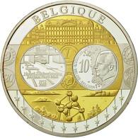 Belgique, Médaille, L'Europe, Jonction Nord-Midi, 2002, SPL+, Argent - Belgique