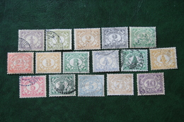 Read Cijfer Complete Set NVPH 99-114 1912-1930 Gestempeld / Used INDIE / DUTCH INDIES - Niederländisch-Indien