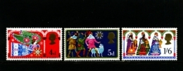 GREAT BRITAIN - 1969  CHRISTMAS  SET  MINT NH - 1952-.... (Elisabetta II)