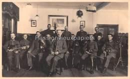 CARTE PHOTO ALLEMANDE  SPA   1918   SERVICE DE TRANSMISSIONS   ORCHESTRE  CHATEAU DE LA FRAINEUSE  ? - Spa