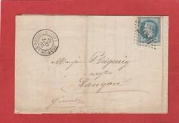 Aude - Port La Nouvelle - GC 2986 Sur N°29 - LAC Octobre 1868 - Marcophilie (Lettres)