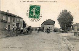 CPA - JEANMENIL (88) - Aspect De La Vieille Route De St-Dié En 1911 - Autres Communes
