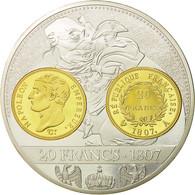 France, Médaille, Histoire De La Monnaie Française, 20 Francs 1807, FDC - France