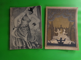 2 Programme Theatre National Opera Comique - La Vie De Boheme 1934-carmen 1928 - Programs