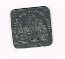 &   1 BROODKAART   VOORUIT  1880 DE NAMAKER ZAL VERVOLGD WORDEN - Monetary / Of Necessity