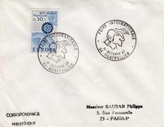 LETTRE EUROPA 0.30 - CACHET ROND FOIRE INTERNATIONALE - 34 MONTPELLIER 14 OCTOBRE 67 / 6156 - Marcofilia (sobres)